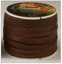 "Kodiak Lace 1/4"" (36mm) Dark Brown  Tandy Leather 5076-02     36 Feet Spool"
