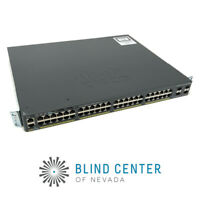 CISCO CATALYST 2960-X WS-C2960X-48FPS-L 48-P POE+ GigE 740W SWITCH V02 FOC21453K