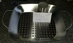 NEW Pampered Chef BBQ Grill Roasting Pan Tray Basket & Chicken Can Holder
