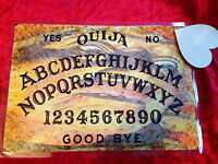 Ouija Board Seance Magic Old Lady laminated sheet + Planchette Fortune Weeja