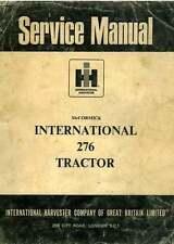 McCormick International Tractor 276 Workshop Manual