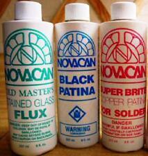 Novacan Combo Pack (each 8 oz bottles) Copper & Black Patina + Old Master Flux