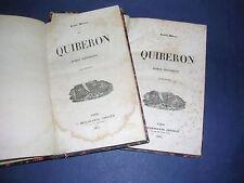 Bretagne Quiberon 1841 Ménard 2 volumes Reliés roman historique Révolution