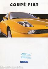Fiat Coupé Prospekt 2/94 brochure 1994 Autoprospekt Auto PKWs Broschüre Italien