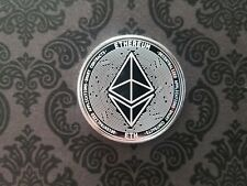 CRYPTOCURRENCY - PHYSICAL ETHEREUM (ETH) 1 OZ .999 FINE SILVER PROOF LIKE ROUND