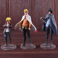3 Pcs/Set Boruto Naruto Next Generation PVC Action Figure Collectible Model Toy
