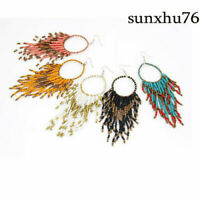 Fashion Bohemian Tassel Bead Drop Dangle Earrings for Jewelry Women