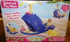 Calico Critters SPLASH AND PLAY WHALE Slide Sandbox Toy Play Set New