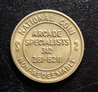 ARCADE SPECIALISTS NATIONAL COIN HOME OF SAME DAY BOARD SERVICE TOKEN!ZZ761XUX