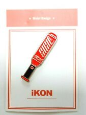 iKon Metal Badge KPOP Photo Light Stick BI BOBBY JINHWAN JUNHOE CHANWOO DONGHYUK