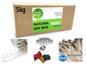 5kg Soy Wax Dye Blocks German Wedo Stabilo Wicks Stickums Wick Holders