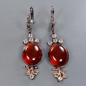 Handmade Earrings Amber Earrings Silver 925 Sterling   /E57677