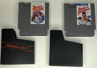 Bases Loaded I & III 1 And 3 Nintendo NES Game Cartridge Lot