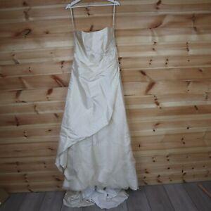 Catherine Jane Wedding Dress Cream Silk Dupion Bridal Dress UK 16