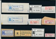 D096856 Iceland Nice selection of Used Registration Labels