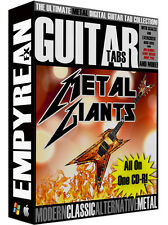 The ULTIMATE Metal Guitar Tabs CD-R Digital Lessons Software Windows Mac