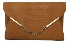 Porte-monnaie et portefeuilles pochettes marron en cuir pour femme