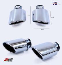2X exhaust Twin Sport Muffler Trim tuyaux CHROME POUR SUBARU WRX Impreza Legacy
