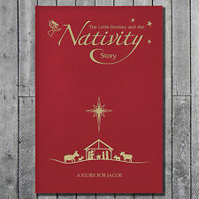 Personalised Childrens Christmas Nativity Story Book - Premium Embossed Cover