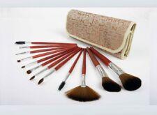 Conjunto de 12 Brochas de Maquillaje Cosmético Cepillo Base en Polvo Sombra de Ojos de mezcla
