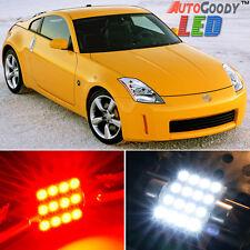 9 x Premium Red LED Lights Interior Package Kit for Nissan 350Z 2003-2008