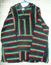 NEW! MEDIUM BAJA SURFER HOODIE SKATER JACKET MEXICAN PONCHO HOOD POCKET WARM