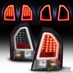 Black 2005 2006 2007 Chrysler 300 Lumileds LED Pyro Tube Tail Lights Brake Lamps