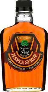 Spring Tree-Maple Syrup - Organic - Grade A, Pack of 12 ( 8.5 FZ )
