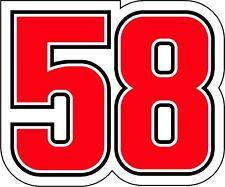 Adesivo replica 58 Marco Simoncelli Adesivo moto Moto Gp 10 cm SIC SUPERSIC
