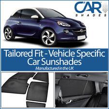 Vauxhall Adam 3dr 13 On UV CAR SHADES WINDOW SUN BLINDS PRIVACY GLASS TINT BLACK