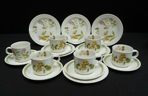 Vintage Royal Worcester Palissy Tea Set 18 Pieces