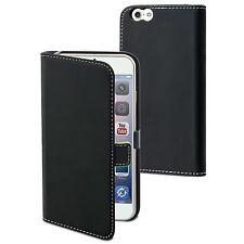 Apple iPhone 6 Plus (5.5) - Housse Etui Folio Slim à Clapet Noir - Muvit