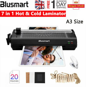 A3/A4 Multifunction Laminator Machine w/ Pouches & Trimmer & Corner Rounder UK