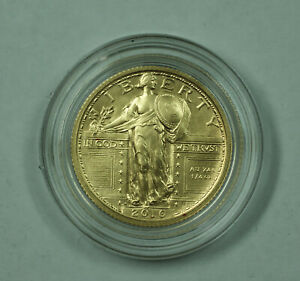 2016-W Standing Liberty Quarter 1/4 Oz 9999 Gold Unc Coin in Mint Box w/ COA