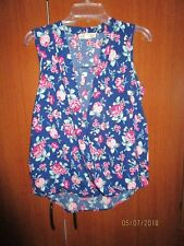 Pink Rose Sleeveless Floral Top Sz M Medium Bust 40 Length 26 inches