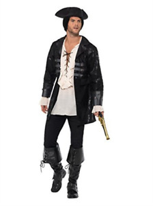 Buccaneer Pirate Jacket, Black -  (Size: Chest 46`-48` /  (US IMPORT) COST-M NEW