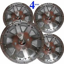 "12"" 12x8 4/115 4+4 ATV Rims Wheels fits most Arctic Cat with IRS Vision Type 159"