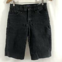 NYDJ Not Your Daughters Jeans Women's Denim Shorts Size 2 Black Bermuda