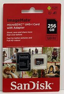 SanDisk ImageMate 256GB MicroSDXC Card w/Adapter- Brand New Sealed