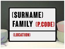 Nombre de la familia Personalizado signo calle placa Metálica Retro Vintage Shabby Chic Regalo