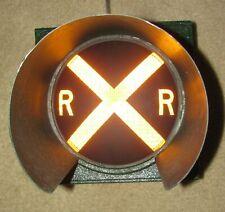 "8"" RAILROAD CROSSING Traffic Signal Light Yellow Lens tunnel visor (AB)"