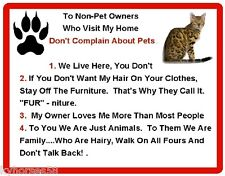 Funny Bengal Cat Rules Refrigerator Magnet
