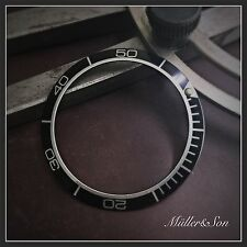 Black with Silver 'Planet Ocean' Bezel Insert to fit Seiko 6309, 7002 & SKX007