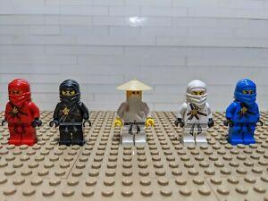 Lego Ninjago Minifigures Lot! Original Minifigures. Kai Cole Zane Jay Sensei Wu