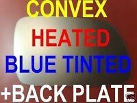 PEUGEOT 407 04-10 AUßENSPIEGEL GLAS BLAU BEHEIZT KONVEX + PLATTE RECHTS/LINKS