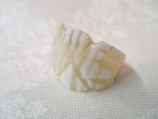 Vintage carved Shell Ring