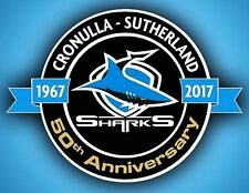 NRL Cronulla Sutherland Sharks 70 Years 1947-2017 Sticker or Magnet