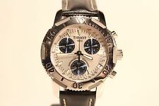 "SWISS BEAUTIFUL ALL STEEL MEN'S CHRONOGRAPH QUARTZ 40MM WATCH""TISSOT""1853/PR200"