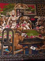 Vintage Dogs Playing Poker Turkish/Tapestry English Bulldog R.N.50 130