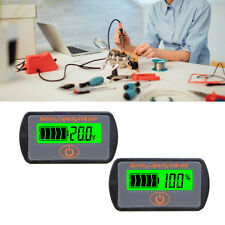 12v 24v LCD Battery Capacity Voltmeter Tester Indicator Car Lead-acid Lithium